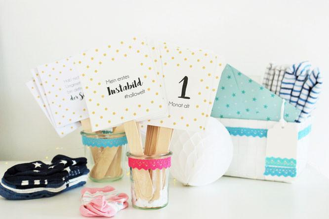 Diy Baby Geschenk  DIY Baby Meilenstein Karten selber machen Mit ser