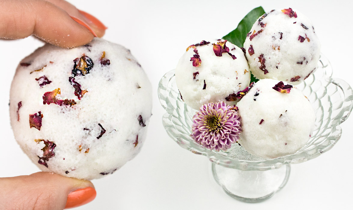 Diy Badekugeln Einfach  DIY Rezept Badekugeln selber machen mit Lavendel