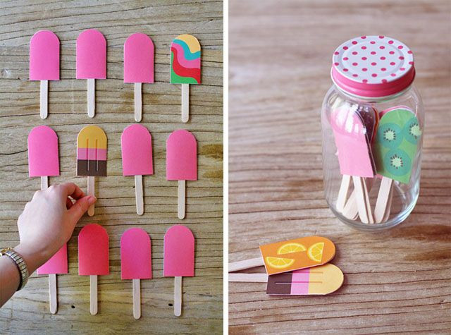 Diy Bastelideen  Eis am Stiel für Kaufladen DIY Pinterest