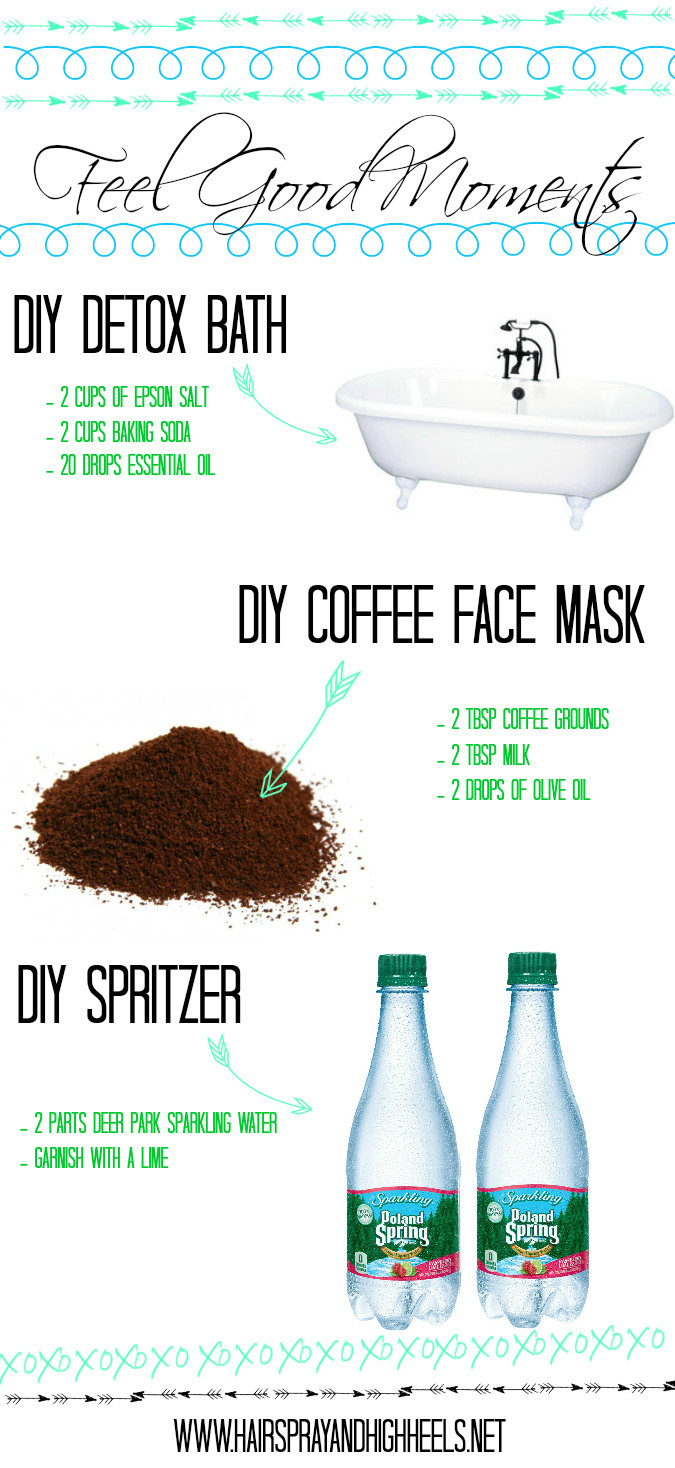 Diy Beauty  Feel Good Moments DIY Detox Bath & Coffee Face Mask