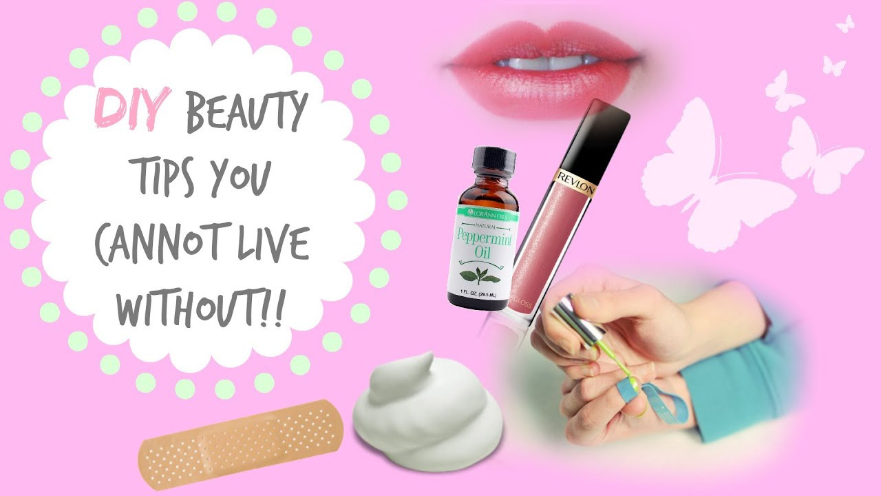 Diy Beauty  DIY Beauty Tips You Can t Live Without
