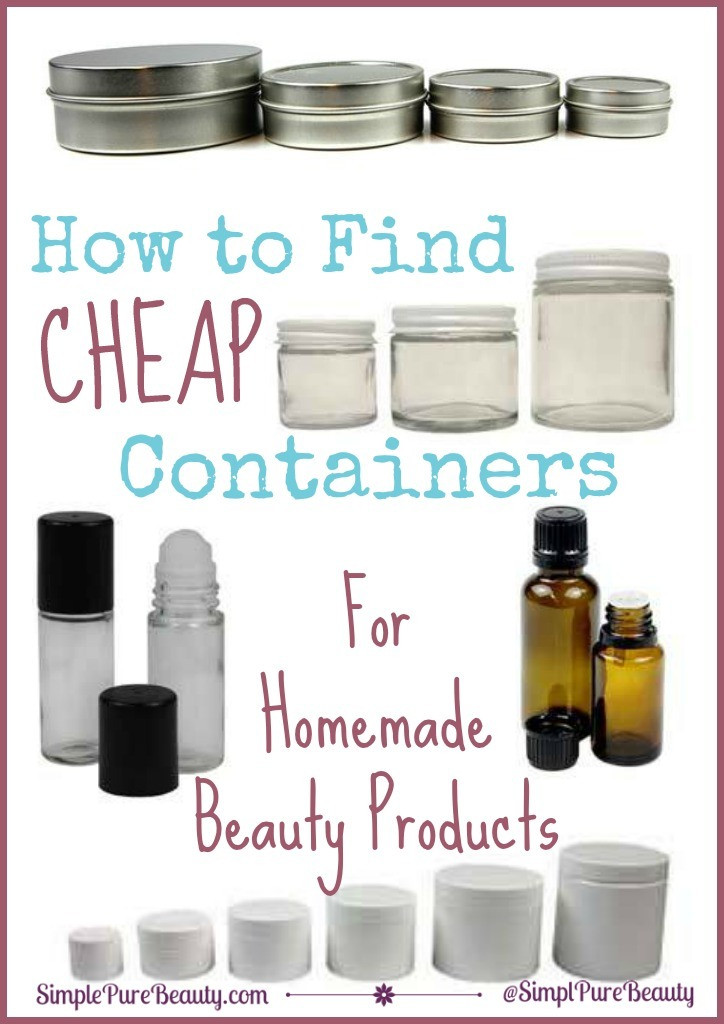 Diy Beauty  How to Find Cheap Containers for Homemade Beauty Products