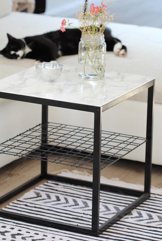 Diy Beistelltisch  DIY Beistelltisch mit Marmorplatte Ikea Hack – DESIGN DOTS