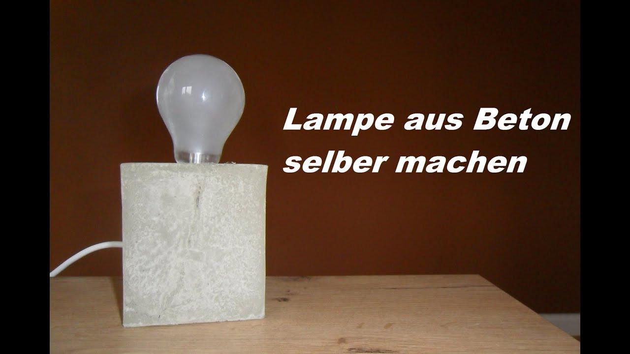 Diy Betonlampe  DIY Lampe aus Beton selber machen Betonlampe gießen