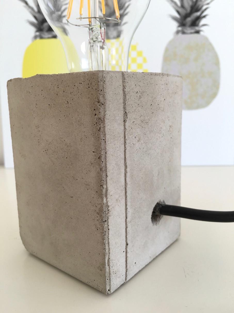 Diy Betonlampe  Lampe mit Sockel aus Beton selber machen HELLO MiME