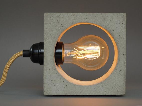 Diy Betonlampe  nomad Betonlampe concrete lamp Tischlampe Tischleuchte