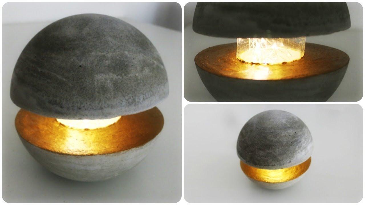 Diy Betonlampe  Betonlampe DIY Concrete Lamp [eng sub]