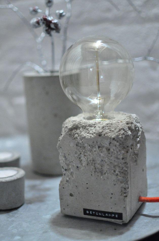 Diy Betonlampe  Die besten 25 Betonlampe Ideen auf Pinterest