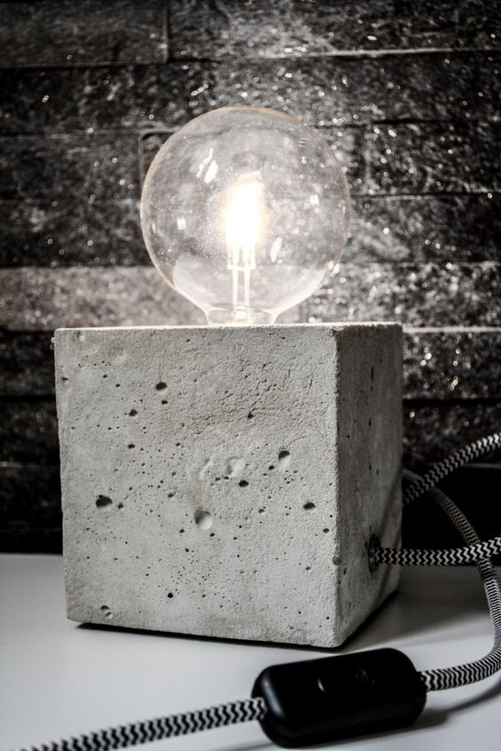 Diy Betonlampe  DIY beton lamp Ideas para el hogar Pinterest