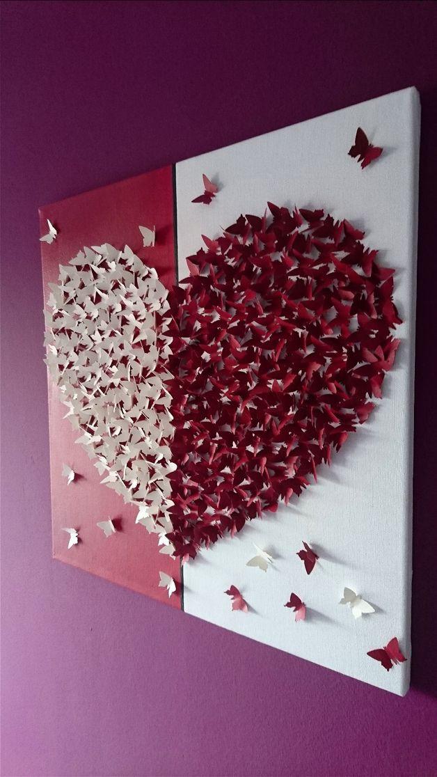 Diy Bilder  25 best ideas about Valentinstag Basteln auf Pinterest