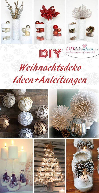 Diy Bilder  Zauberhafte DIY Weihnachtsdeko Bastelideen für das Fest