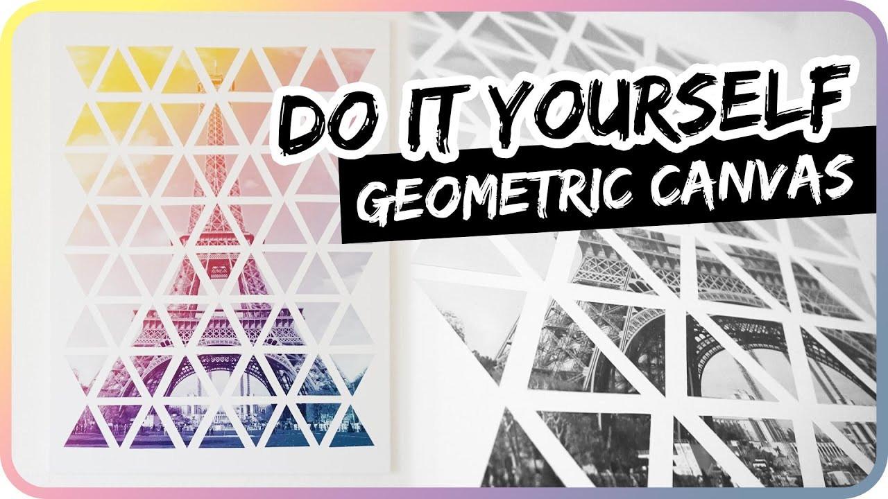 Diy Bilder  DIY Geometric Paris Eiffel Tower II Leinwand Kunst