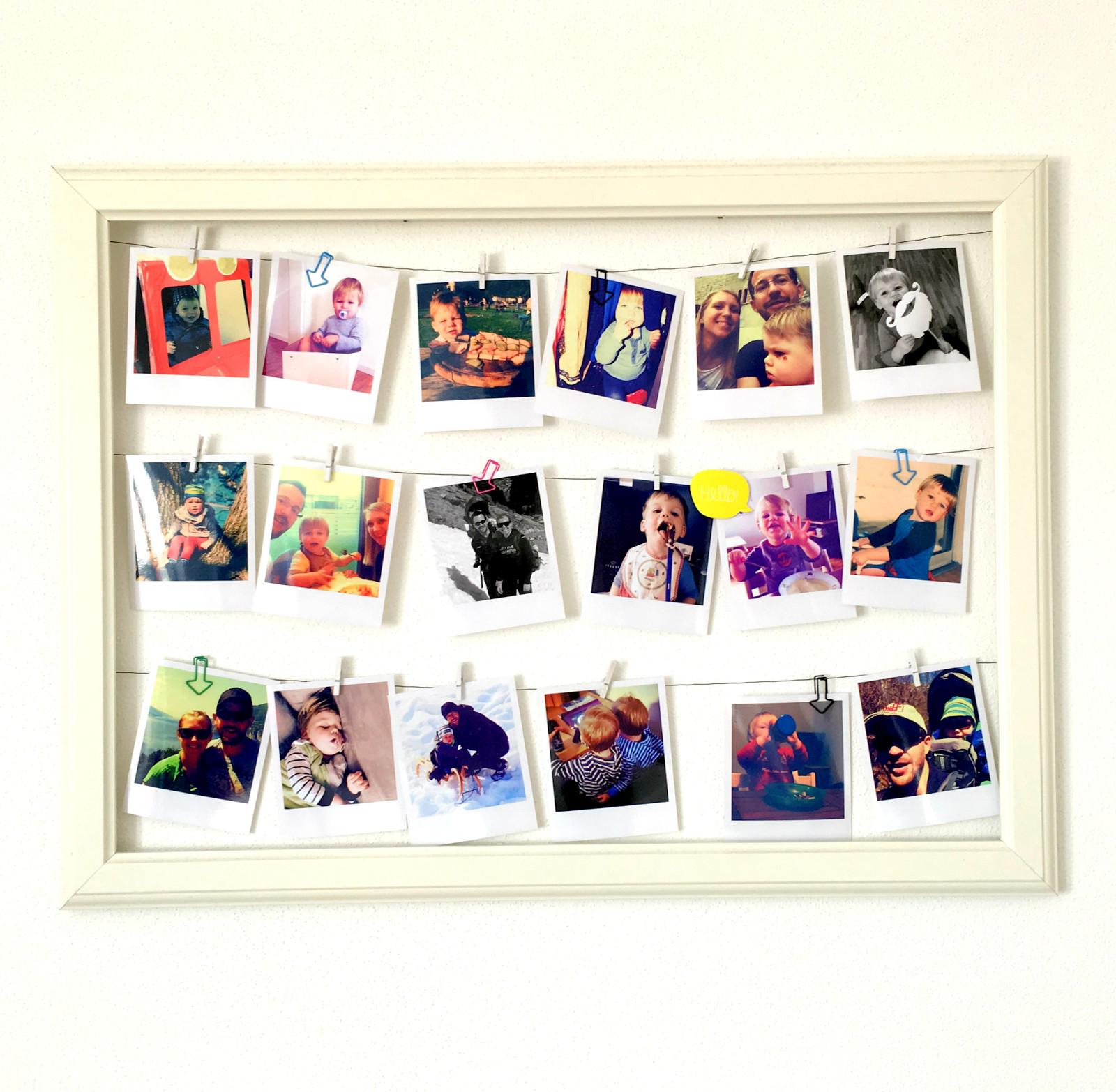 Diy Bilderrahmen  DIY Bilderrahmen mit Polaroids