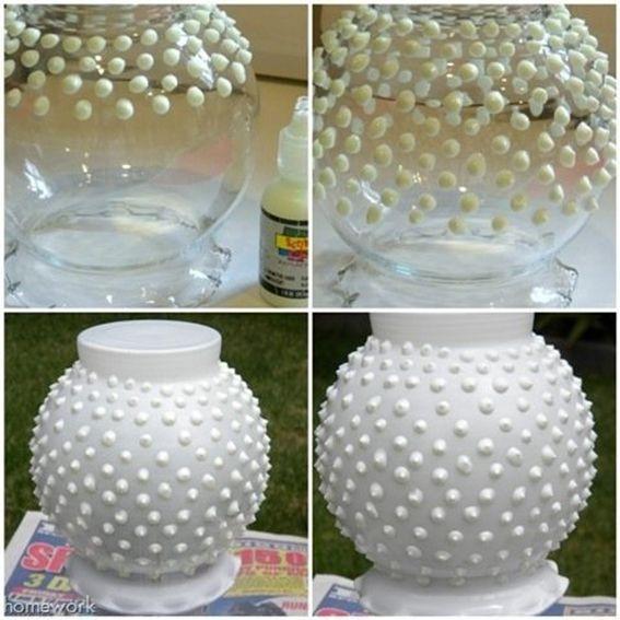 Diy Blog  Vasos e potes de vidro decorados1 artesanato