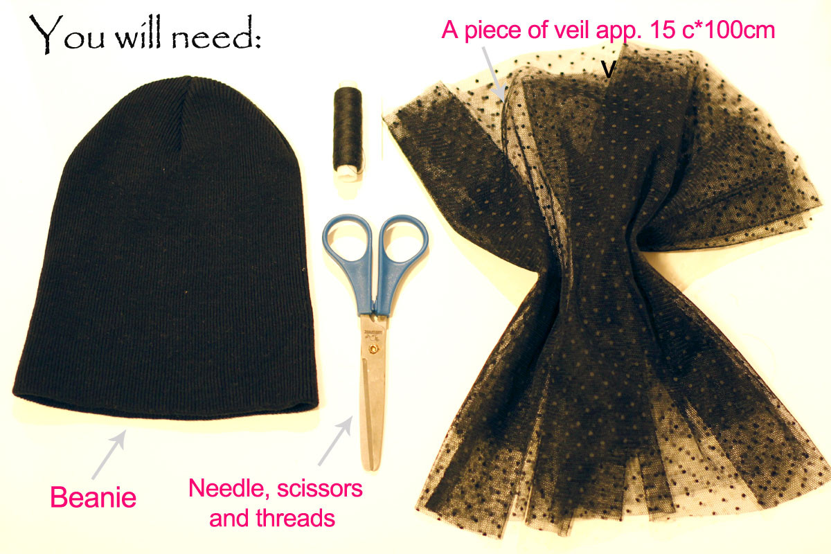 Diy Blog Fashion  CrashingRED DIY Jil Sander inspired veiled beanie