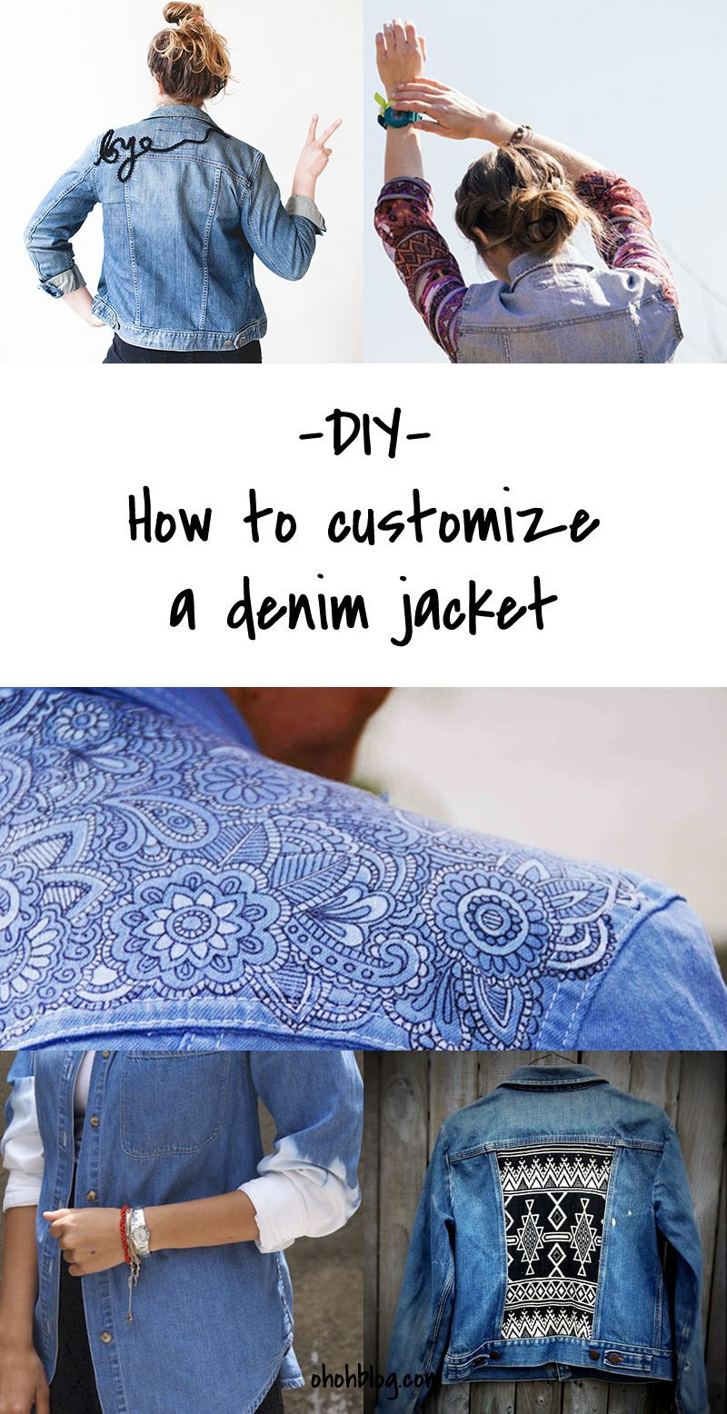 Diy Blog Fashion  DIy to Try Customized denim jackets