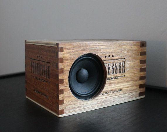 Diy Bluetooth Box  Tennessee Bluetooth Speaker Wooden Cigar Box Wireless