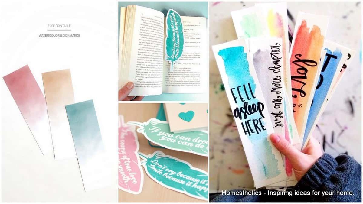 Diy Bookmark  73 Cool Homemade DIY Bookmark Design Ideas for Reading