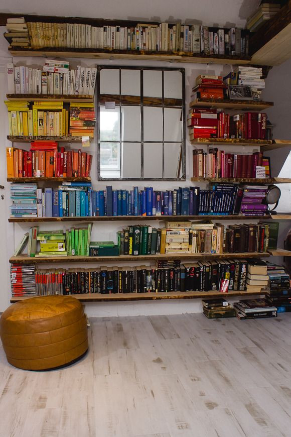 Diy Bücherregal  diy schwebendes bücherregal Bücherregale