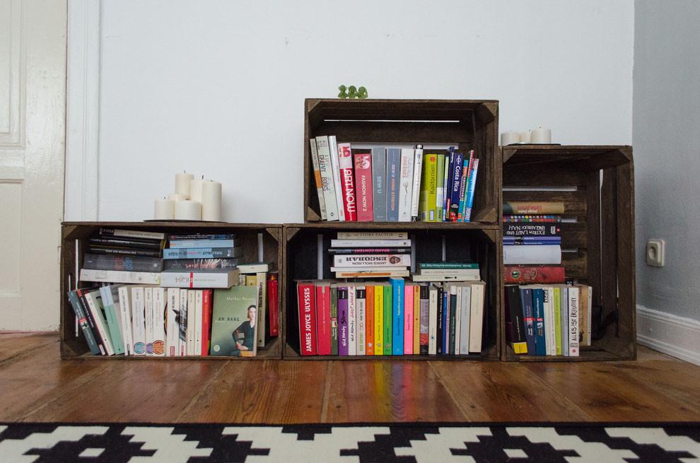 Diy Bücherregal  DIY Regale aus Obstkisten felicity DIY Blog
