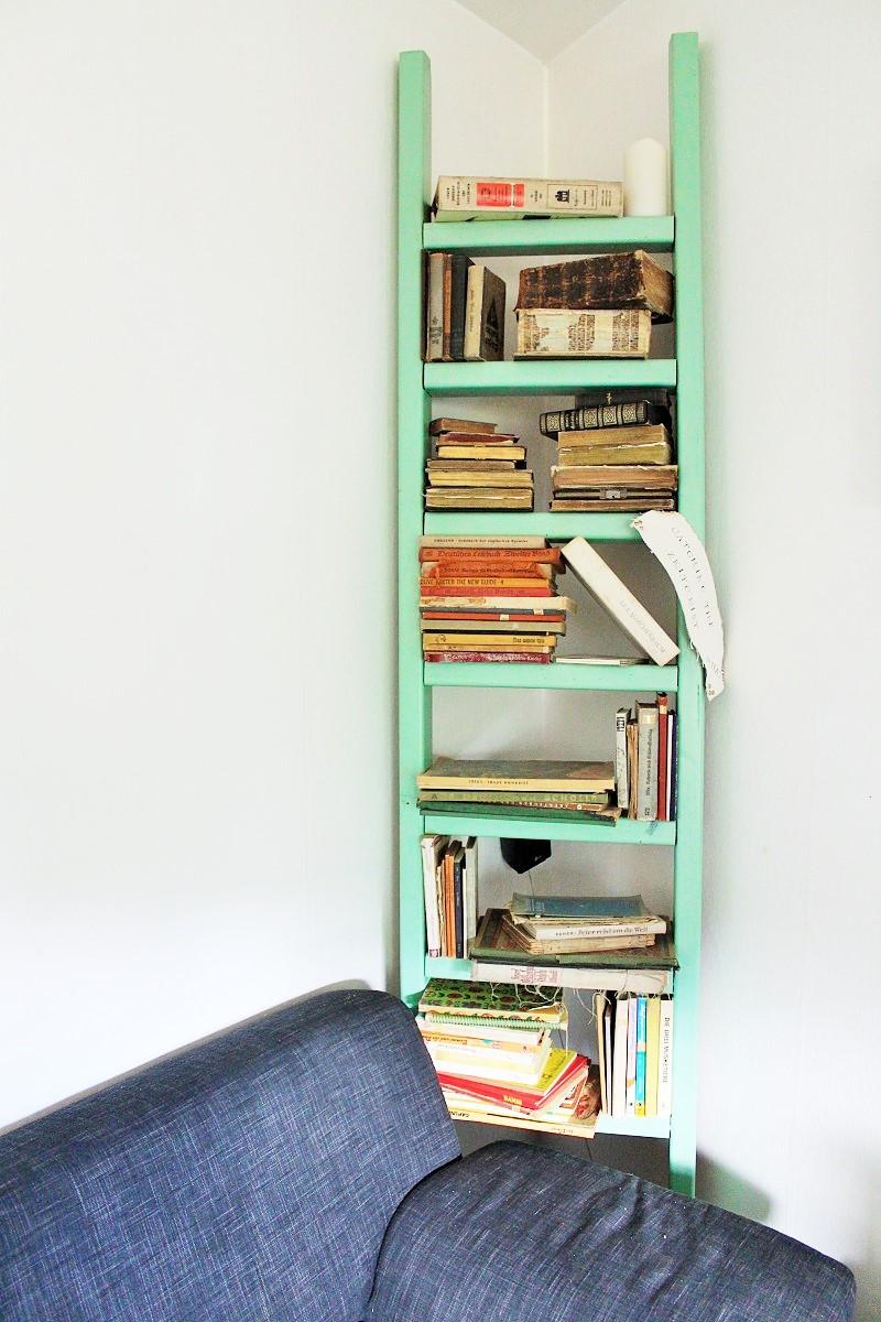Diy Bücherregal  DIY Leiter Bücherregal – Annefaktur