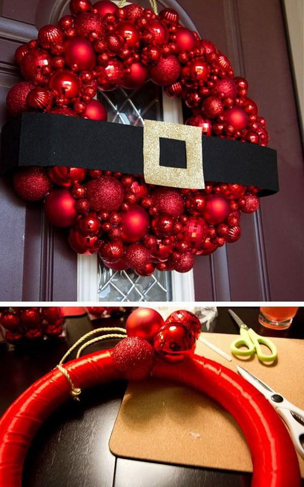 Diy Christmas Decoration  20 Creative DIY Christmas Door Decoration Ideas Noted List