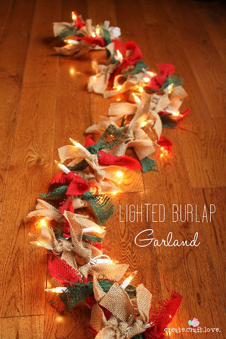 Diy Christmas Decoration  50 Trendy and Beautiful DIY Christmas Lights Decoration