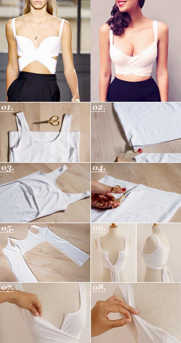 Diy Crop Top  Maiko Nagao DIY Balencia inspired no sew crop top