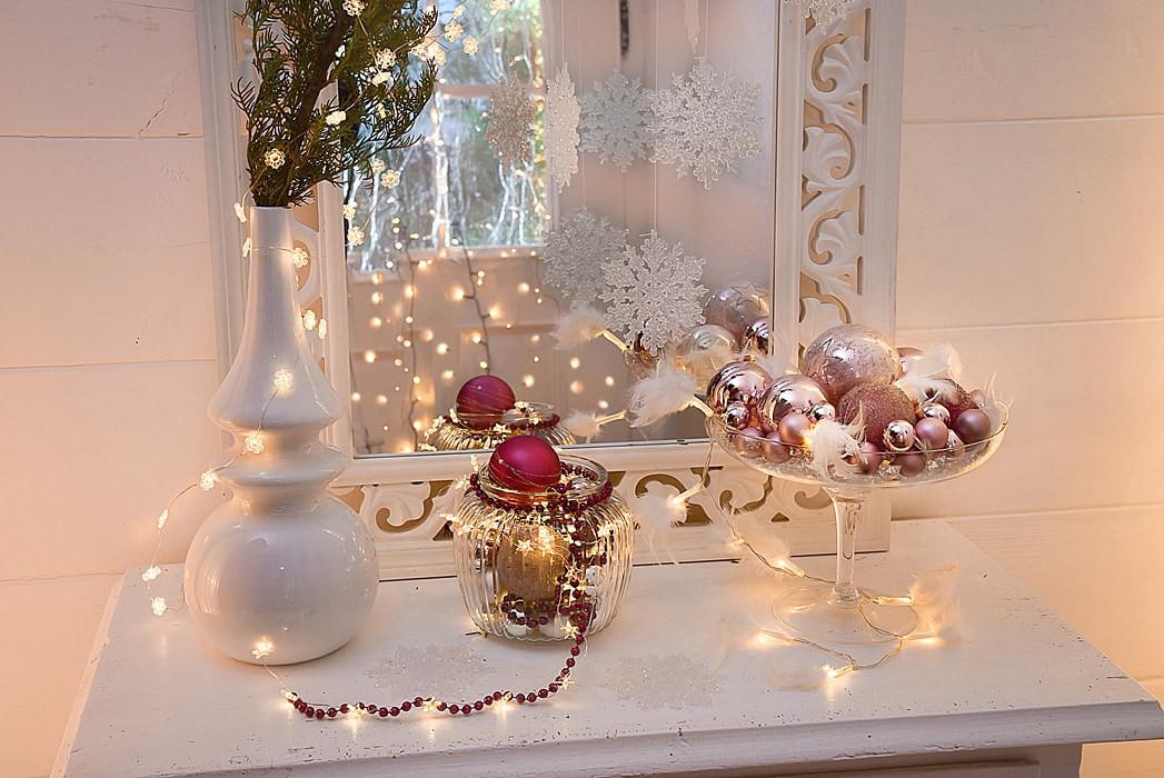 Diy Deko Ideen  weihnachtliche Dekoideen mit Lichterketten