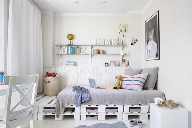 Diy Deko Jugendzimmer  DIY Bett und eigener Designer Nachttisch aus Paletten