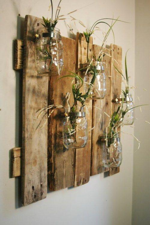 Diy Deko Wand  Die 25 besten Holzdeko Ideen auf Pinterest