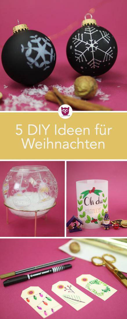 Diy Eule Instagram  5 DIY Bastelideen zu Weihnachten DIY Eule