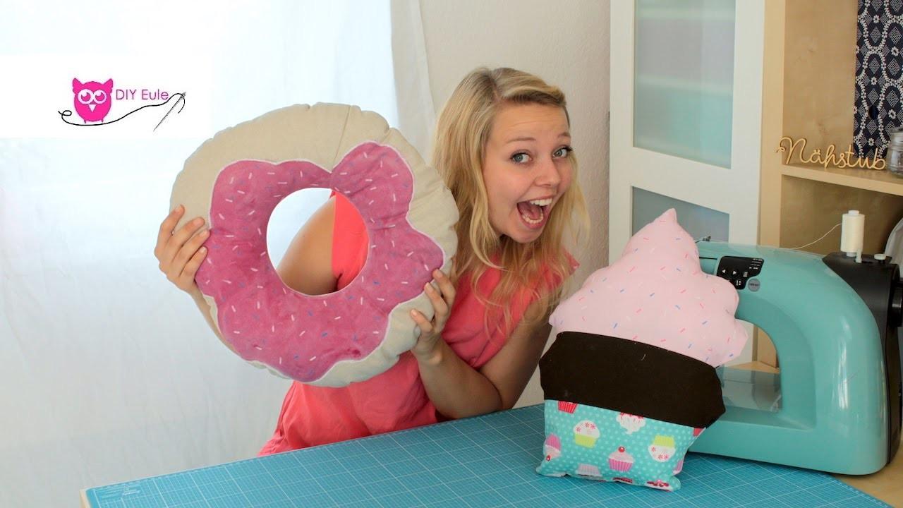 Diy Eule Instagram  Cupcake & Donut Kissen nähen – DIY Eule