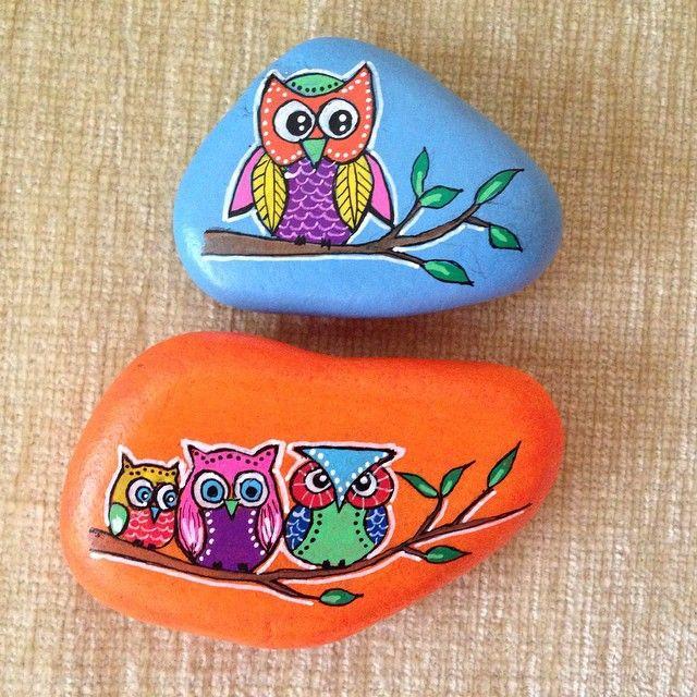 Diy Eule Instagram  bemalte Steine mit Eulen DIY Bemalte Steine