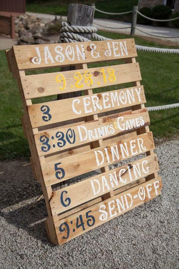 Diy Europalette  Coole DIY Deko aus Europalette für Ihre Hochzeit