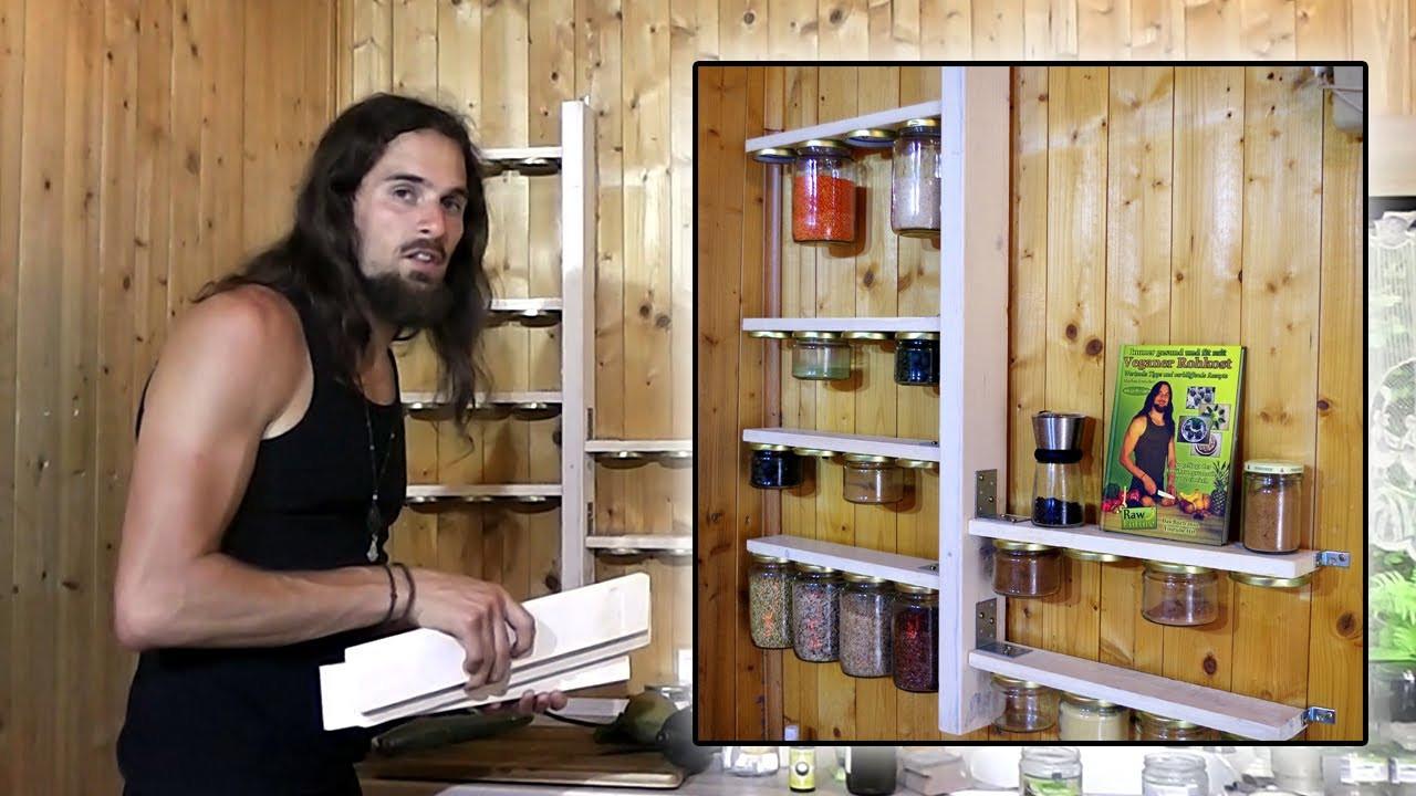 Diy Europalette  Gewürzregal aus einer Europalette kostenlos selber bauen