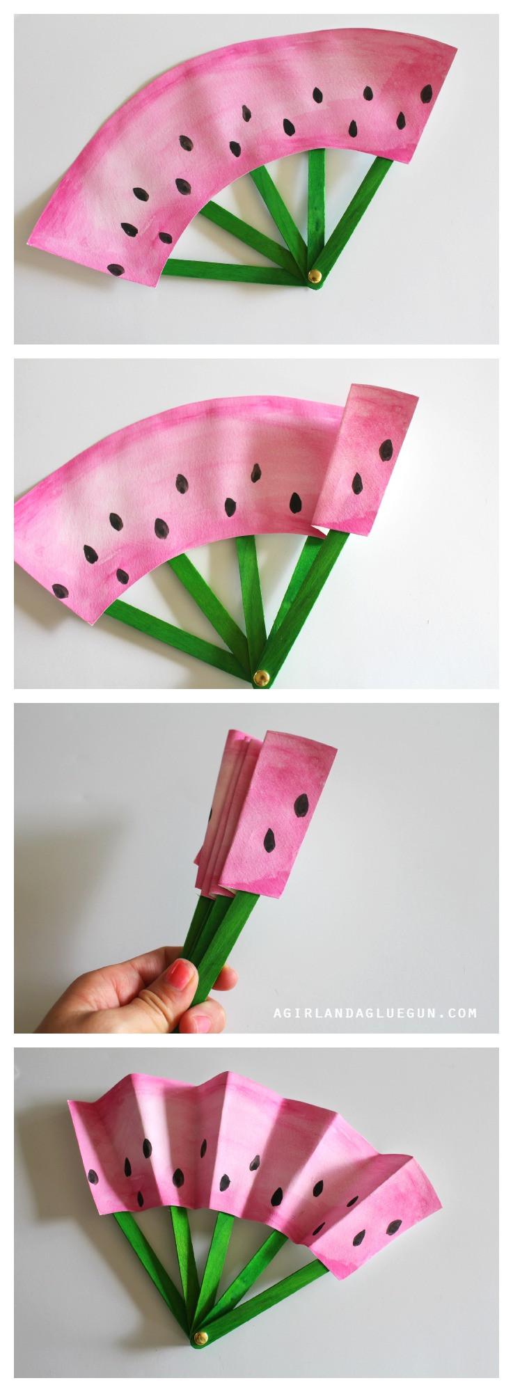 Diy Fan  DIY Fruit Fans Kids Craft The Idea Room