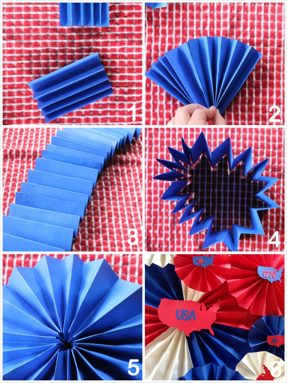 Diy Fan  DIY Paper Stars and Fans to Decorate for the 4th of July