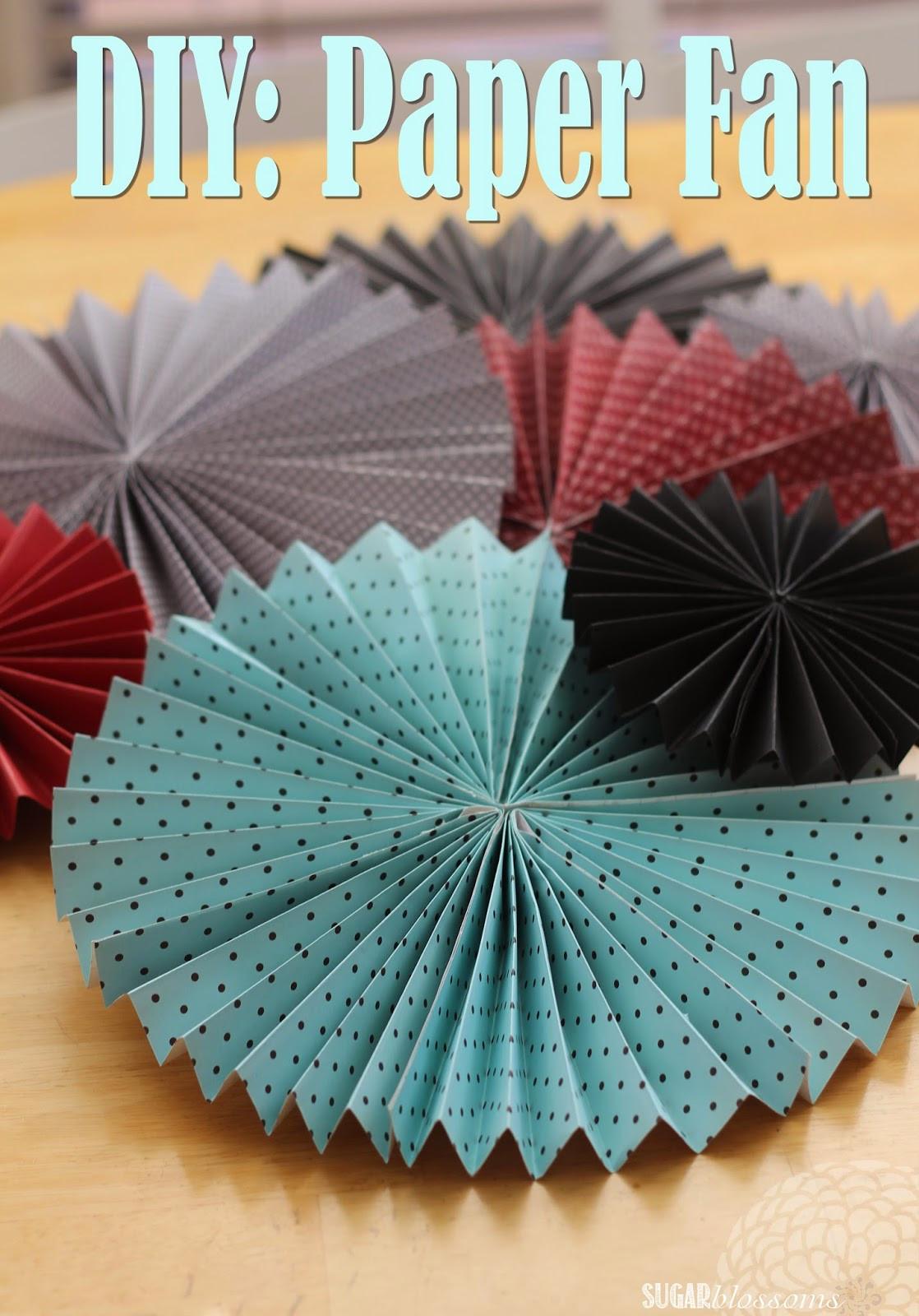 Diy Fan  Sweet Sugar Blossoms DIY Paper Fans