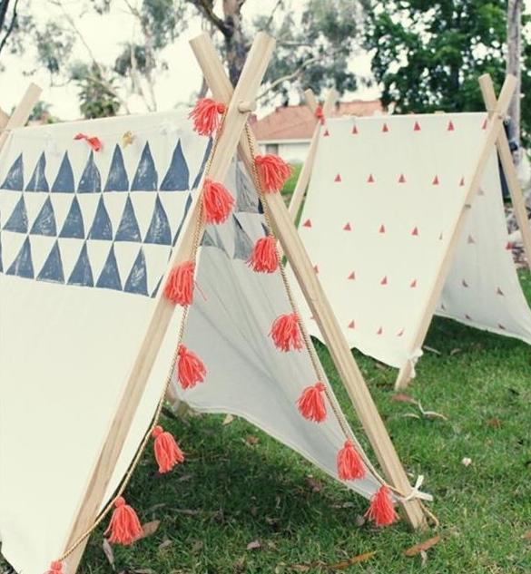 Diy Für Kinder  spielplatz für kinder mit DIY zelt im garten fresHouse