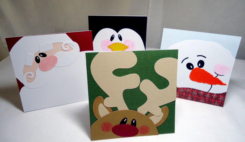 Diy Für Kinder  Schaffen Sie einen 3D Effekt beim Weihnachtskarten Basteln