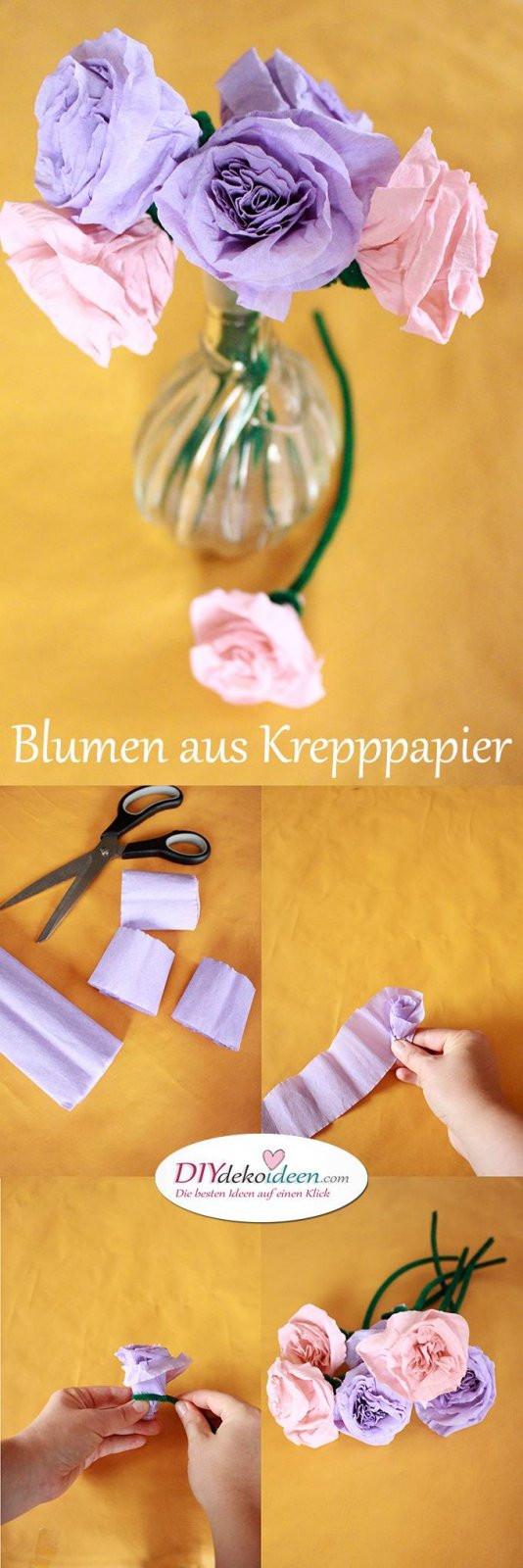 Diy Für Kinder  Spielerisch Rosen basteln mit Krepppapier – DIY