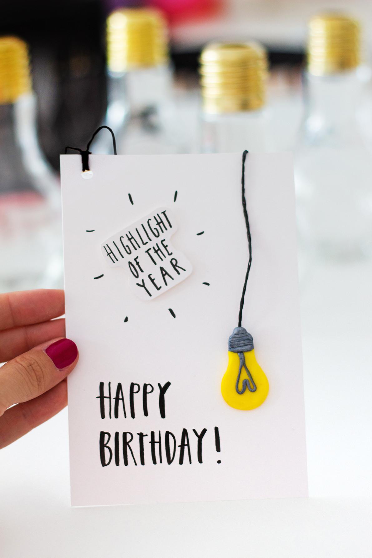Diy Geburtstag  Geburtstagsgeschenke selber machen Drei DIY Ideen •