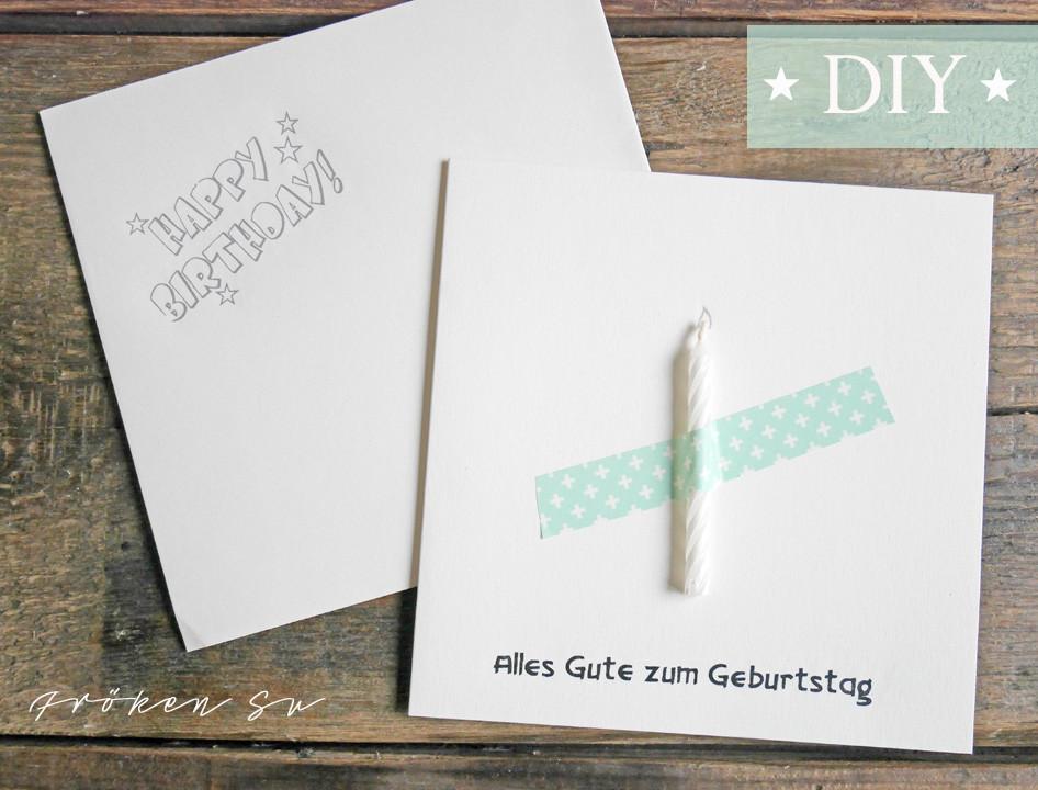 Diy Geburtstagskarte  Fröken Su Mein Kreativblog Mini DIY Geburtstagskarte