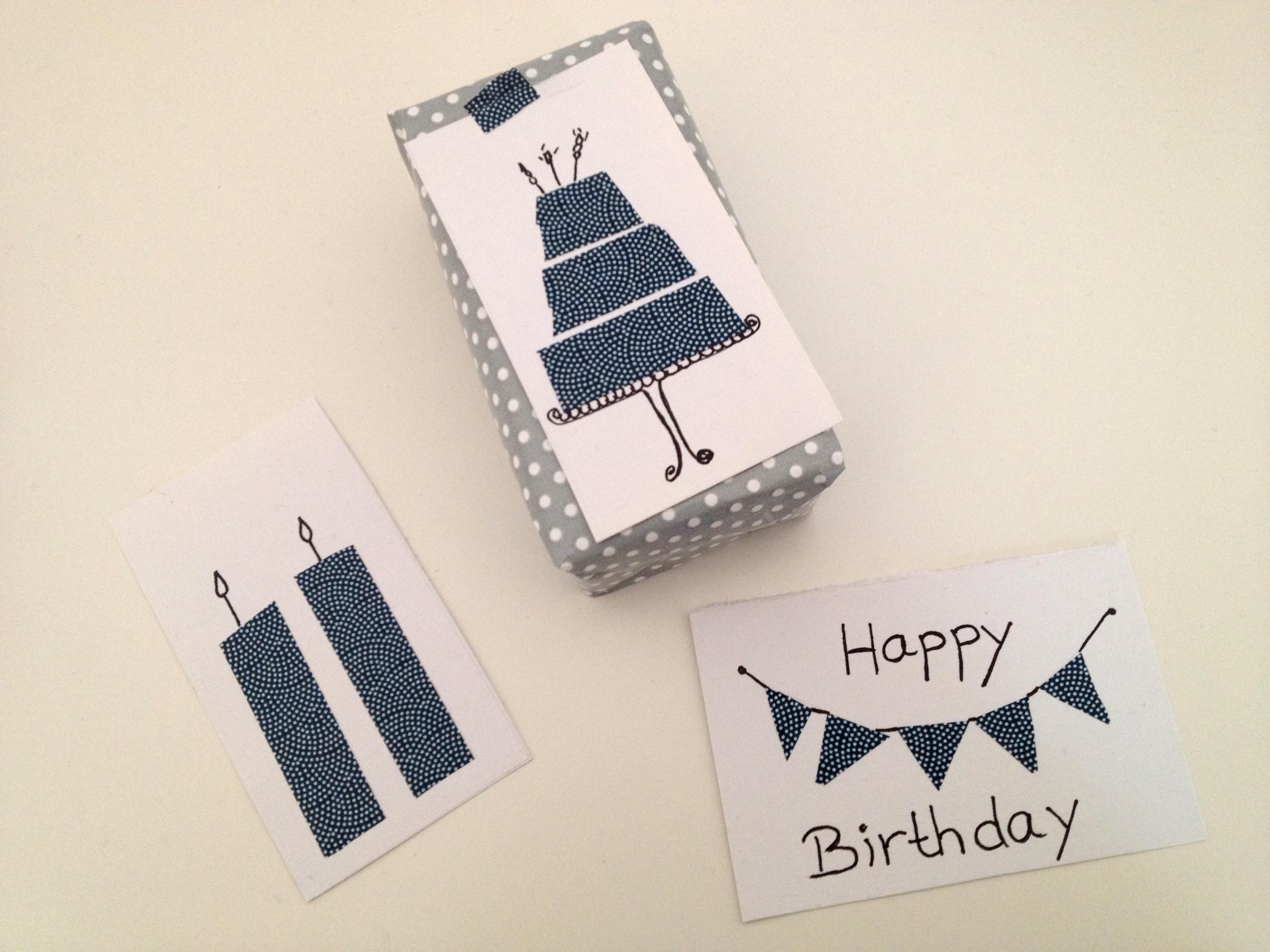 Diy Geburtstagskarte  DIY – schnelle Geburtstagskarte mit Maskingtape