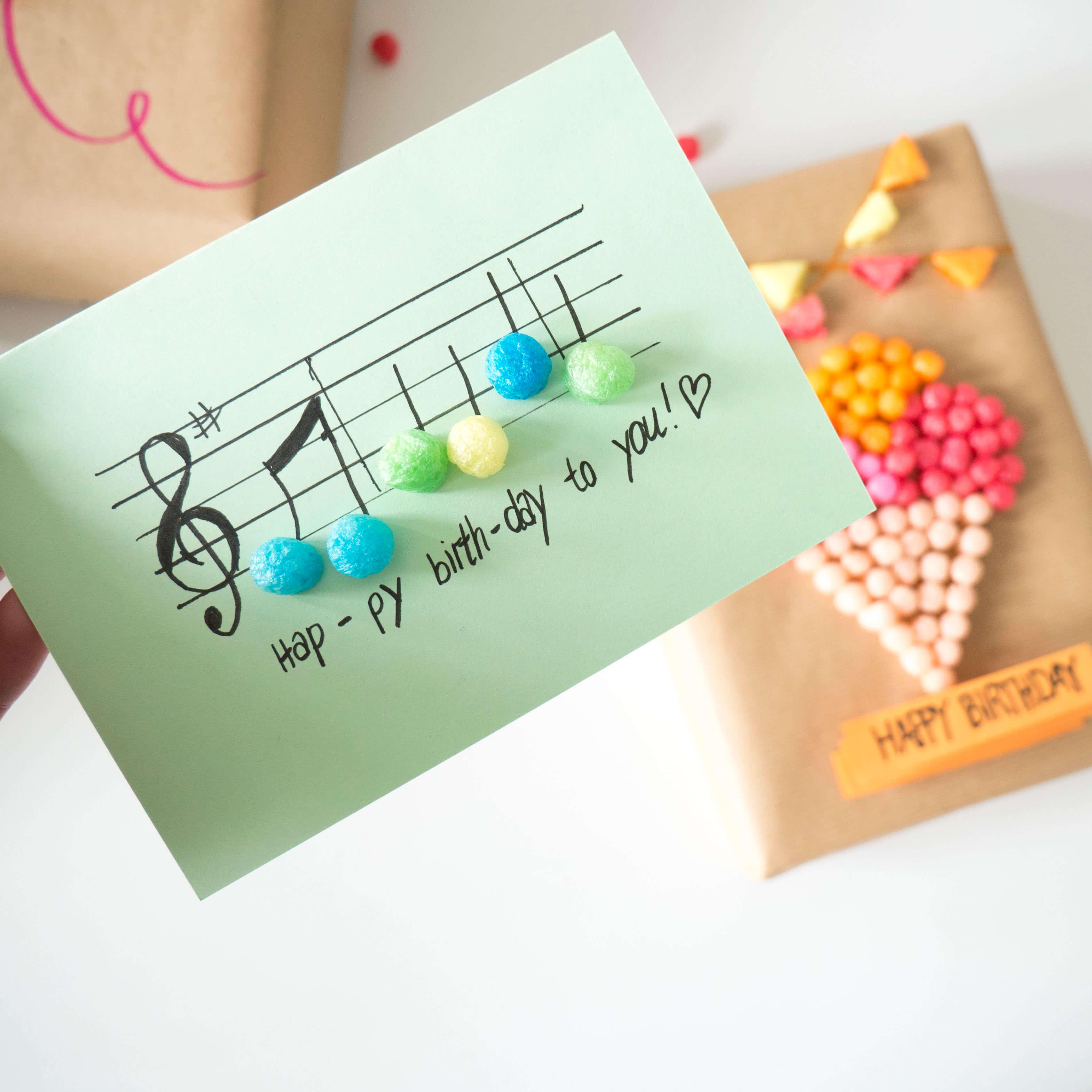 Diy Geburtstagskarte  DIY Kreative Geburtstagskarten und Geschenkverpackungen