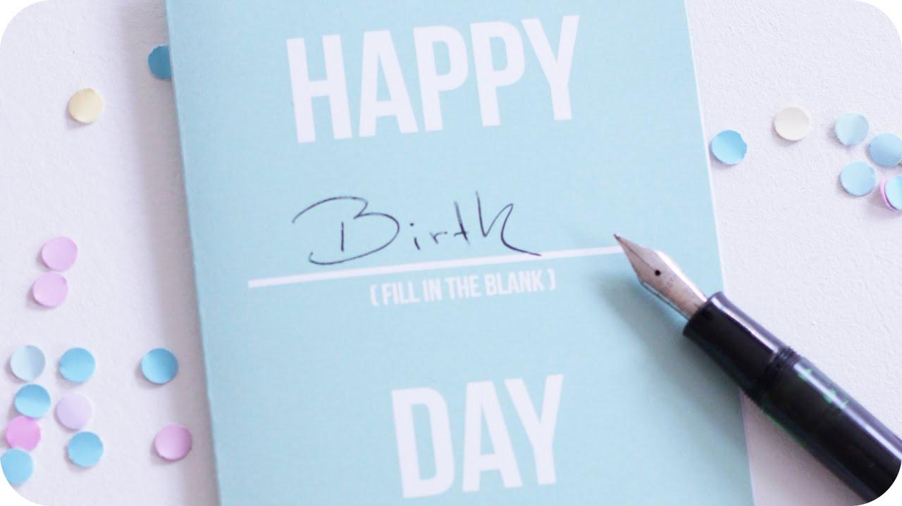 Diy Geburtstagskarte  Geburtstagskarten DIY Geburtstagskarte