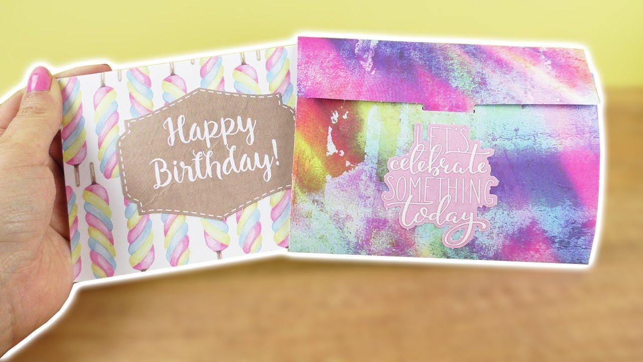 Diy Geburtstagskarte  DIY Geburtstagskarte & Umschlag