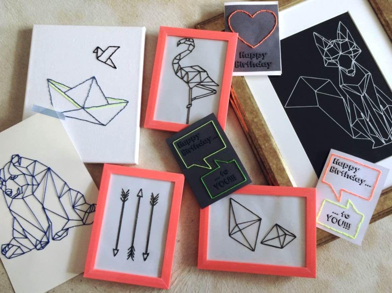 Diy Geburtstagskarten  DIY Geometrische Kunst – Wandbilder und Geburtstagskarten
