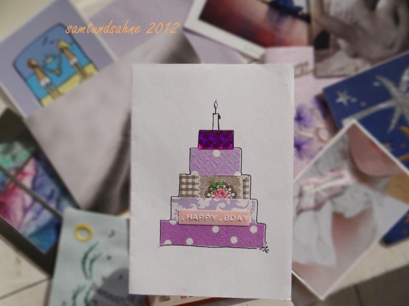 Diy Geburtstagskarten  samtundsahne geburtstagskarten flashmob ein DIY & ein
